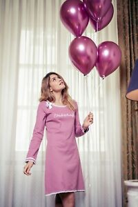 "LOUIS & LOUISA  "" Zauberhaft "" Nachthemd Rippe rosa / Spitze Gr. XS - L  NEU"