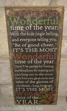 BiG CHRISTMAS PICTURE Sign*Wall/Mantelf*Primitive/French Country Farmhouse Decor