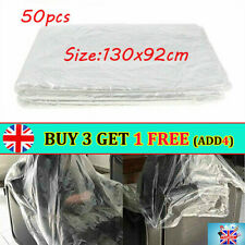 50PCS Disposable Salon Barber Gown Hairdressing Cape Hair Cutting Cloak HM UK