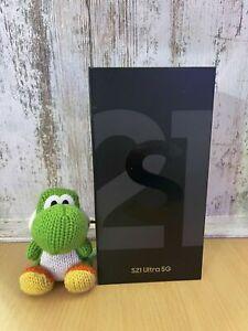 NEW!Samsung Galaxy S21 Ultra 5G SM-G998U-128GB Phantom Black (Factory Unlocked)