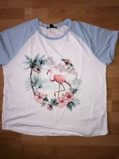Ladies Flamingo Tshirt Size 18