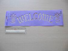 Plaid Decorating Stencil Welcome sign Folk Art Country 28521 Warm Welcome