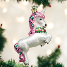 OLD WORLD CHRISTMAS PRANCING UNICORN CHRISTMAS ORNAMENT 12472