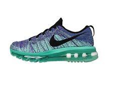 Women's Nike Flyknit Max Shoes 620659 501 size 12 (29cm) HYPER GRAPE/TURQUOISE