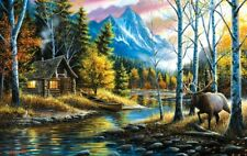 Jigsaw Puzzle Landscape Rustic Cabin Living the Dream 300 pieces NEW made in USA