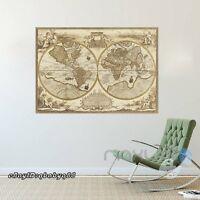 Giant Classic World Map Mural Ebay
