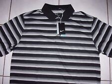 NEW NIKE Golf SHIRT Polo Men Dri-Fit Size XL Black/White *$65