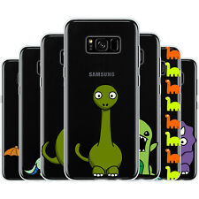Dessana Sweet Dinos TPU Silicone Protective Cover Phone Case Cover For Samsung