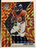2020 Panini Mosaic Football JERRY JEUDY RC Reactive Orange Prizm Refractor #206