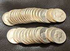 TEN 90% Junk Silver Franklin Half Dollars $5 Face Value Circulated