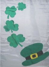 Luck O The Irish Shamrocks Standard House Flag NCE  #00580