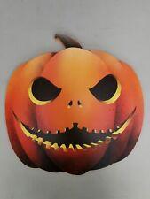 GIANT Wooden Hand Painted Orange Pumpkin Halloween Prop (design 2)