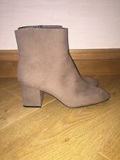BNWT ZARA GREY POINTED TOE ANKLE BOOTS HIGH HEEL SIZE 8