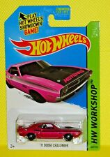 2014 Hot Wheels Kmart Days Workshop #242 '71 Dodge Challenger - Micro Lavender