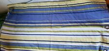 At Home by Target 100% Cotton Shower Curtain Blue Yellow Green Stripes Cottage