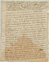 Frankreich Original Handschrift um 1670 französische Kalligrafie Stempel Schrift