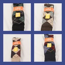 Levi's Dockers Big and Tall Classic Argyle Sock 3 Pack Fits 13-15