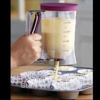 Home Baking Kitchen Tool Cake Mix Measuring batter Dispenser Muffin Pancake OO