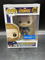 Funko Pop! Avengers Captain America #299 Walmart Exclusive W/ Pop Protector