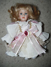 "Vintage Intl Far East Ltd. Bisque head hand feet Victorian blonde girl Doll 8"""