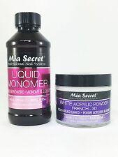 Mia Secret Liquid Monomer 4 oz & White Acrylic Powder 2 oz