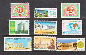 Pakistan Stamps 1986-1988 various Commemoratives SCV $11.75 All Complete sets