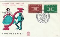 Europa France 1963 Slogan Cancel Historic Dancers Pic FDC Stamps Cover Ref 25994