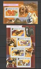 ST182 2015 GUINEA DOGS FAUNA PETS KB+BL MNH STAMPS