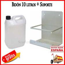 Bidon 10 litros garrafa para condensador + soporte. Util para aire acondicionado