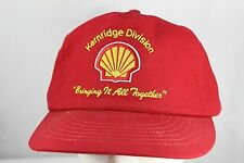 Shell Oil Company Kern Ridge Division Red Baseball Cap Snapback