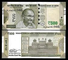 "Rs.500/- Urjit Patel  Star Note ""E"" Inset  Prefix 3LA  2016 - UNC  LATEST"