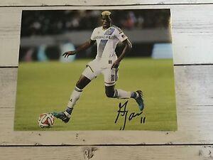 Gyasi Zardes Signed LA Los Angeles Galaxy 8x10 Photo Autographed c