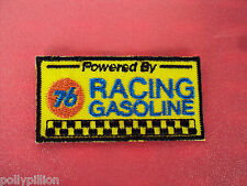 MOTOR RACING RALLY NASCAR SEW/IRON ON PATCH:- UNION 76 RACING GASOLINE STRIPE