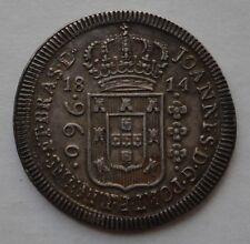 BRASIL BRAZIL PRESENTATION COIN 960 REIS 1814 B  PERFECT FLAN  AMAZING EXAMPLE