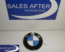 Original BMW Emblem Plakette Heckklappe 3er E46 Compact 5er E39 Kofferraum 77mm