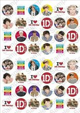 One Direction Rice Paper Fairy Cake Toppers x 48  1DF2