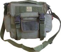 Mens Travel Army Combat Canvas Messenger Shoulder Satchel Sports Bag Retro Black