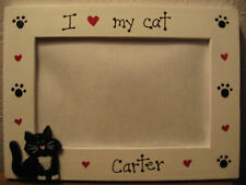 PERSONALIZED - I love my cat kitten pet custom photo picture frame