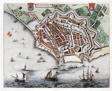 Reproduction plan ancien de Flessingue (Vlissingen) 1649