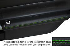 Verde Stich 2x Puerta Apoyabrazos De Cuero Skin cubre encaja Toyota Mr2 Mk3 2000-2007