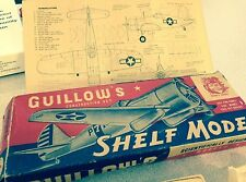 VINTAGE GUILLOW'S CHANCE VOUGHT F4U-1 CORSAIR Kit in Box