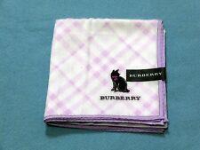 "AUTHENTIC BURBERRY Official License Scarf Handkerchief 58cm 23"" 268 Purple Cat"