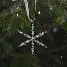 Crystal Clear Gelé Flocon De Neige Arbre de Noël décoration avec cristal Swarovski