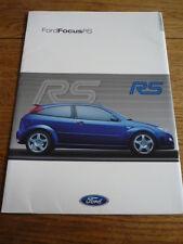 FORD FOCUS RS (SPECIFIC) CAR BROCHURE DEC. 2000