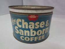 VINTAGE CHASE & SANBORN COFFEE TIN ADVERTISING COLLECTIBLE GRAPHICS  G-703