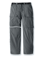 White Sierra Men's Trail Convertible Casual Pants Inseam 34 Caviar Size M 0288