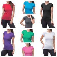 Women's Basic  Short Sleeve T Shirt Crew Neck Tee (S-3XL)