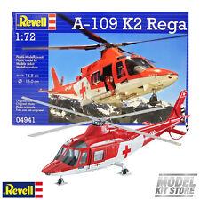 Agusta A-109 K2 Rega - 1/72 Revell Civilian Helicopter Model Kit #4941 New