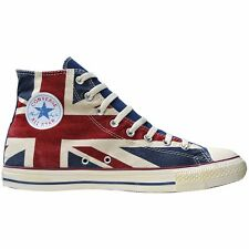 CONVERSE ALL STAR CHUCK SCARPE EU 42,5 UK 9 GB ENGLAND BANDIERA PUNK UNION JACK