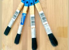 6 x 12mm 1/2inch DISPOSABLE PAINT BRUSHES PURE BRISTLES DECORATING DECOR GLOSS